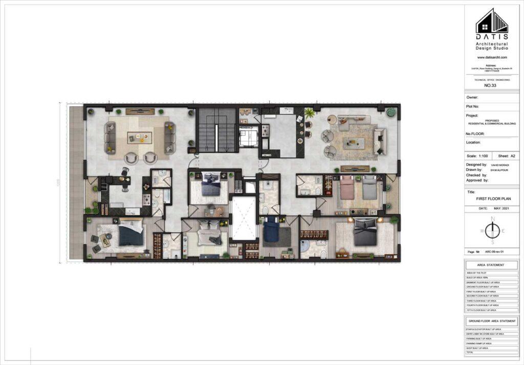 طراحی نقشه های ساختمانی